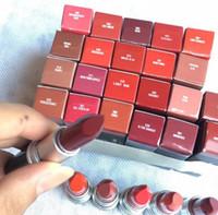 Wholesale lipstick 24 colors matte online - Hot M Matte lipstick TWIG WHIRL FAUX TAUPE color long lasting Waterproof Retro Lipsticks makeup colors choose