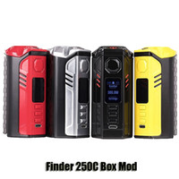 evolv mod großhandel-100% Original Thinkvape Finder 250C Box Mod Denken vape VW TC 250 Watt Evolv DNA250 Mod Für 510 Faden Atomizer Tank Authentic