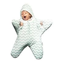 детское спальное меховое одеяло оптовых-Baby Sleeping Bag For Newborn Starfish Types Designs Autumn Winter Cotton Blancket Baby Quilt For Health Clothing