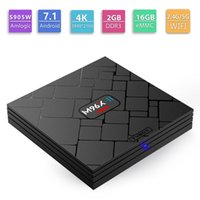 Wholesale wholesale console wifi - M96X-II Mini Android7.1 TV Box 2.4G 5G Dual Wifi Amlogic S905W 2GB 16GB Set Top Box Game Console Quad Core 2G 16G M96X Mini TVBox