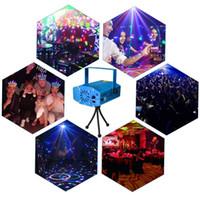 luz verde da dança do laser venda por atacado-Mini Laser Iluminação Cénica 150mW Mini GreenRed Laser DJ Partido Luz Do Estágio Preto Disco Dance Floor Lights (Azul)