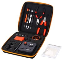 Wholesale One Deck - E-cig DIY Tool Kit V3 Resistance Voltage Meter Coil Jig Coil Deck Base Scissors Ceramic Tweezers Screwdriver T-screw All-in-one Carrying Bag