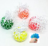 Wholesale healthy stress - 4.5cm Anti Stress Face Reliever Grape Ball Autism Mood Squeeze Relief Healthy Funny Tricky Toy Gadget Vent Decompression toys KKA5554