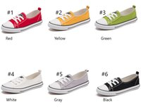 Wholesale white canvas sneakers wholesale - Shallow mouth canvas Shoes For Men Women Sneakers Run Sport Casual Low Top Classic Skateboarding Canvas Cheap