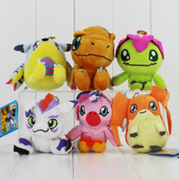 Wholesale wholesale digimon toys for sale - Hot kinds Digimon Plush Patamon Agumon Yagami Taichi pendant keychain Toys Lovely Gifts