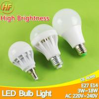 luzes led de 15 watts venda por atacado-High-Grade E27 E14 Lâmpada LED Lâmpada LED 3 W 5 W 7 W 9 W 12 W 15 W 220 V Watt Real SMD 2835 5730 luzes Lampara Bombilla lampada
