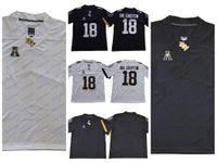 leere weiße fußball jerseys großhandel-NCAA UCF Knights College Fußball Jersey Blank 10 McKenzie Milton 18 Shaquem Griffin UCF Ritter Trikots Weiß Schwarz Genäht S-3XL