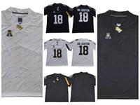 camisas de futebol branco em branco venda por atacado-NCAA UCF Knights faculdade de futebol Jersey em branco 10 McKenzie Milton 18 Shaquem Griffin UCF cavaleiros Jerseys branco preto costurado S-3XL