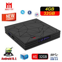 set box medya oynatıcı wifi toptan satış-4 GB Akıllı TV Kutusu Android 8.1 Rockchip RK3328 Dört Çekirdekli Mini PC Wifi M9S Y2 4G 32G Set Top Box Wifi 4 K HDR Media Player USB 3.0