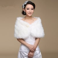 Wholesale formal shawls wraps - Wedding Bolero Outerwear Accessories Urged Wrap Bride Formal Winter Cape Bride Fur Shawl Wedding Jackets Wrap