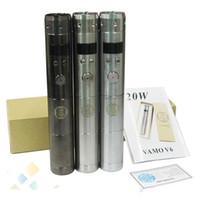 vamo mods de cigarrillos electronicos al por mayor-Vamo V6 20W Mod Kit Potencia 3W-20W con pantalla LCD Electronic Cigarette Starter kit Chrome Negro acero inoxidable ecigs kits epacket gratis