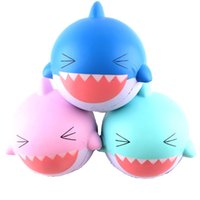 Wholesale hot toys silicone for sale - Squishy Decompression Toys Multi Color Lovely Shark Squishies Slow Rising Relieves Stress Squeeze Toy Hot Sale mj C
