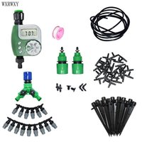 Wholesale garden tools sets for sale - Group buy wxrwxy Watering kit automatic irrigation system Gardening tool kit garden water system lcd automatic timer irrigation set