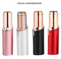 Wholesale Women Laser Hair Remover - Painless Instant Hair Remover Smooth Depilatory Wax Body Facial Hair Removal Laser Women Lipstick Shaver white red pink black