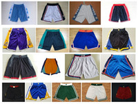 Wholesale army sweatpants - 2018 Men's Basketball Shorts 1992 Teams USA North Carolina New Breathable Sweatpants Swingman Sportswear Shorts Embroidery Logo Mix Order !
