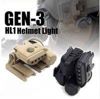 caza nocturna luces led al por mayor-Noche-Evolution Casco Set de luces Gen 3 Casco ligero WhiteRed LED infrarrojo Linterna Clamp Hunting Tactical NE05003