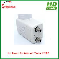 Wholesale Hd Twin - Dual Twin Double Standard Ku Band FTA LNB 0.1 dB LNBF Dish HD ready Two Output