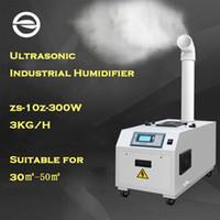 nebulizador al por mayor-Humidificador comercial ZS-10Z para el taller del sótano Humidificador industrial ultrasónico del control inteligente de la humedad Difusor Fogger 220V 300W