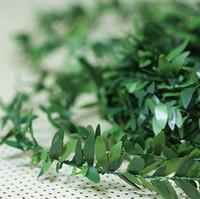 ingrosso rami di rami-decorazione artificiale foglie ramoscello ramo ghirlanda fai da te Natale verde filo zincato vite fiori artificiali in rattan 2 tipi