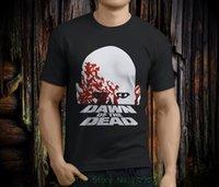 moda do amanhecer venda por atacado-New Popular Dawn Of The Dead Horror Filme dos homens T-shirt Preta Tamanho S-3xl Moda Camiseta Hipster Legal topos
