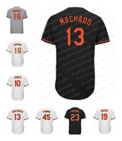 Wholesale Baltimore Xxl - Mens Baltimore Jerseys 13 Manny Machado 10 Adam Jones 19 Chris Davis 6 Jonathan Schoop 45 Mark Trumbo 16 Trey Mancini 23 Joey Rickard Jersey
