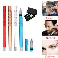 Wholesale razor hair styles - Free Ship Tattoo barber Hair magic Engrave Razor Pen for Eyebrows Beards Shaving Salon DIY Blades Hair Styling carve scissors