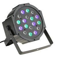 Wholesale dmx led strobe - High Power 18W 18Leds RGB Stage Light Professional RGB Par Light DMX-512 Party DJ Disco Strobe light Laser Projector