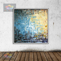 Wholesale oil landscapes painting knives for sale - Knife painting oil painting modern the beach and the boat Home decoration on canvas abstract painting art paintings KOP