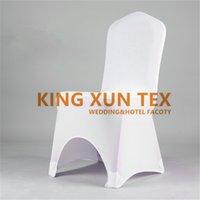 fildişi spandex toptan satış-100 adet Satılan Lycra Spandex Sandalye Kapak Düğün Olay Dekorasyon Için SiyahWhiteIvory Renk sizin Için Ücretsiz Nakliye Seçin