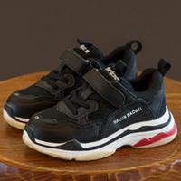 Wholesale Sandal Kids Brand - Designer Brand Kids Casual Shoes Baby Toddler Running Shoes Children Boys Grils Sport Sneakers Basketball Shoes Sole-upperlinking Sandals