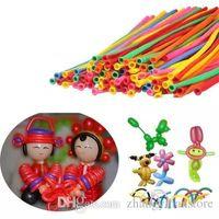 ingrosso palloncini magici lunghi-100p Long Shape Twisting Magic Balloons Party Decorazione di compleanno di Natale Palloncini Latex Baloon per bambini Forniture DIY Toy 260Q