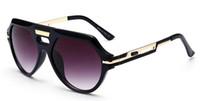 große schwarze modebrille großhandel-657 Brillen Neue Mode Schwarz Übergroße Sonnenbrille Männer Quadrat Gläser für Frauen Große Größe Hip Hop Retro Sonnenbrille Vintage Gafas Oculos 001