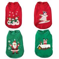 kış için sevimli köpek katları toptan satış-Merry Christmas Köpek Giyim Festivali Sevimli Kazak Outerwears Noel Baba Giysileri Sonbahar Kış Ceketler Gevşek Coat Pet Malzemeleri 19hs bb