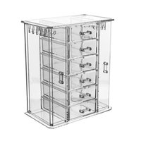 organisateurs de maquillage acrylique achat en gros de-wholesale Brands Transparent Acrylic Desktop Makeup Organizer Storage Box Fashion Multifunctional Cosmetics jewelry Storage Drawer