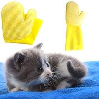 gants de nettoyage jaune achat en gros de-Brosse de nettoyage pour chien de haute qualité pour animaux