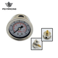 Hot selling PQY RACING - Fuel Pressure Gauge Liquid 0-100 psi   0-160psi Oil Pressure Gauge Fuel Gauge Black white Face PQY-OG33