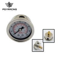 rennlehren großhandel-PQY RACING - Kraftstoffdruckanzeige Flüssigkeit 0-100 psi / 0-160psi Öldruckanzeige Kraftstoffanzeige Schwarz / weiß Gesicht PQY-OG33