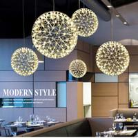 lampes scintillantes achat en gros de-Lampes à la personnalité minimaliste modernes et classiques La lampe à LED ronde classique Les perles de l'art scintillent le chandelier