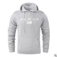 Wholesale gym hoodies for men resale online - Hot Sale Letter Print Sweatshirt For Male Men Gym Hoodies Fashion Solid Hoody Men Pullover Mens Tracksuits Male Coats
