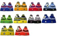 Wholesale North Winter - Top Quality NRL Team Beanies North Queensland Winter Cronulla Sharks Beanie Hats For Men Knitted Roosters Beanies Warm Caps Drop Shipping