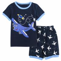70c308913485 Kids Boys Sleepwear Airplane Pajama Child Short Sleeve Cotton Pyjamas  Children Pijamas Clothes Set Loungewear Pajamas For Boys