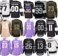 Discount hockey jerseys la kings - Custom Any Name & No. 2018 LA Kings 32 Jonathan Quick Jeff Carter 8 Drew Doughty Wayne Gretzky Men Women Kids Practice Home Hockey Jerseys