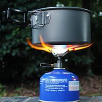 gaz bir brülör toptan satış-BRS 25g Mini cep Tek parça titanyum alaşımlı ateşleme brülör katlanır gaz sobası BRS3000 t 2700 W