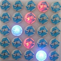 Wholesale christmas light up badges for sale - Group buy Popular blue Marine animals dolphins Flashing LED Light Up Badge Brooch Pins Party Favors Christmas gifts H258