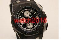 relogios de relógios de cronômetro venda por atacado-Relógio de luxo 2019 Relógio de Pulso R0aloka Quartz Movimento Cronômetro Homens Vestido de Relógio de Borracha Preto Banda 0 fecho original