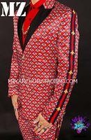 одежда для певицы ночного клуба оптовых-Men's sequin-striped slim suit jacket male singer performance clothing personality menswear nightclub male suit bar clothes