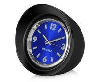 Wholesale clock pointer - Car Ornaments 45mm Luminous Quartz Clock Creative Mini Digital Pointer Decoration Watch Automobile Interior Decor Accessories