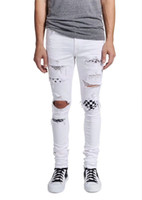 Wholesale Korean Long Coat Male - Spring teenagers ripped jeans male version of the Korean version of the trend personality slim skinny pants.