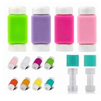 mobil şarj cihazı renkleri toptan satış-Çok Renkler USB Kablosu Koruyucu Kol D2 Cep Telefonu Şarj Kablosu Koruyucu Silikon IPhone Hattı Için Koruyucu
