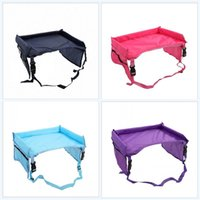Wholesale car travel tray for sale - Group buy Storage Kids Snack Play Tray Waterproof Children Tables Travel Drink Holder Security Car Vehicle Polyester Fiber Minimalism cl ff